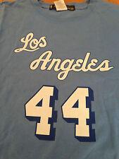 Shirt Maglia Basket NBA Jerry West Los Angeles Lakers VTG Adidas Hardwood 48 XL