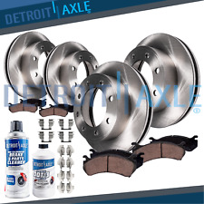 2000 2001 2002 2003 2004 Ford F-250 SD 4WD Front Rear Brake Rotors+ Ceramic Pads
