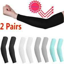 1/2 Pair Unisex Outdoor Sports Cooling Arm Sleeves Cover UV Sun Protection