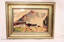 Zauberhaftes Gemälde / Aquarell / Bergdorf / Signiert P.ZWOLICKI / 1941/ 153