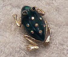 Classic Pin Brooch Frog Amphibian Lake Legs Toad Tadpole Jump Salamander Ds7
