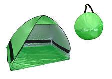 Pop up Zelt Automatik Strandmuschel Beach Tent Sonnenschutz UV Wurfzelt grün