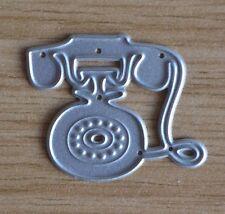 Corte De Metales Die-teléfono de estilo vintage y retro pequeño telefónico tradicional (022)