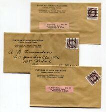 Canada ONT Ontario - Cobden - ca 1955 - 1c Wilding Precancel WRAPPERS Lot x 3