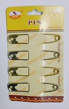 4 Jumbo Safety Pins Big Size Silver/Gold Tone (8.5 cm Long 1.5 cm wide) NEW