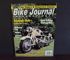 Bike Journal International - November 1992 - Triumph Club - Belknap Cup