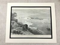 Antique Print River Ganges British Colonial India Allahabad Fort Victorian