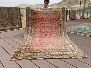 "Beautiful Vintage 1960-1970's Chrome Dye Wool Pile Bunyan Rug 3'9""x 6'1"""
