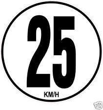 1 Limitation de Vitesse Autocars Tracteur Poids lourd 25KM/H adhésifs