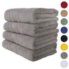 NEW GREY Color ULTRA SUPER SOFT LUXURY PURE TURKISH 100% COTTON BATH TOWELS