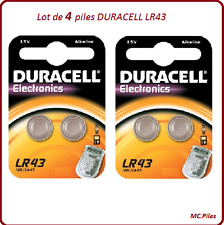 Lotto 4 batterie a bottone AG12/LR43 alcalino Duracell