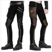 Devil Fashion Rock Men Pu Leather punk Gothic Pants Trousers Steampunk Casual