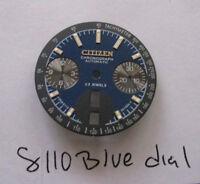 = Nuevo Esfera Azul Fabricado para Citizen 8110 Cronógrafo Automático