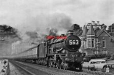 PHOTO  GWR CASTLE NO 7029 CLUN CASTLE 1955 AT DAWLISH UP DEVONIAN