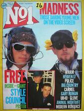 NO 1  (NUMBER ONE) MAGAZINE 3/9/83 - MADNESS - UB40 - WHAM! - GARY NUMAN