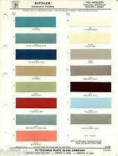 1964 MERCURY PARKLANE MONTEREY COMET MONTCLAIR PARKLANE 64 PAINT CHIPS DITZLER 5