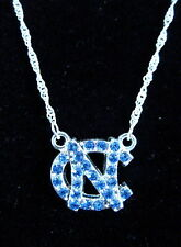 University of NORTH CAROLINA UNC TAR HEELS CRYSTAL PENDANT NECKLACE jewelry