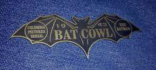 CUSTOM 1943 BATMAN SERIAL BAT COWL DISPLAY NAME PLATE PROP COLUMBIA PICTURES