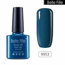 BELLE FILLE 10ml Nail Gel Polish Soak Off UV LED Lamp Manicure Lacquer Tips DIY