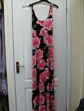 PAPAYA PRETTY PINK BLACK BLUE GREEN FLORAL PRINT STRAPPY LONG FLOATY MAXI DRESS