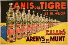 Metal Sign Anis Del Tigre By Zsolt Liquor Spanish 1930S Deco A4 12x8 Aluminium