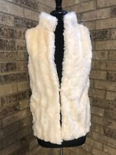 Love Tree Cream/Ivory Color Faux Fur Vest Women's Size M