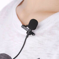 BG_ 3.5MM Clip-on Lapel Microphone Hands Free Wired Condenser Mini Lavalier Mic