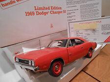 DANBURY MINT 1:24 HEMI ORANGE 1969 DODGE CHARGER 500 TITLE ANTENNA #625 DM1341