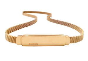 Rare, Vintage, Gucci, Tom Ford, Gold Colour Mesh Skinny Snake Belt