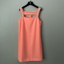 Lilly Pulitzer Mason Pink Beaded Dress - 10