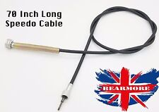 """Universal Rear Wheel Speedo cable 70""""  British motorcycle speedometer cable long"""