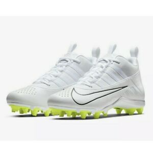 Nike Mens Sz 10.5 White Volt Alpha Huarache 6 Varsity Lacrosse Football Cleats