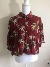 Brandy Melville John galt vintage red hawaiian shirt NWT S/M