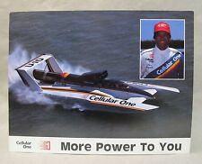 very large STEVE REYNOLDS CELLULAR ONE  hydroplane boat racing color promo print