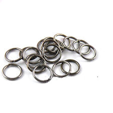 100Pcs 8mm Black Open Single Jump Split Rings Connector DIY Jewelry Fingings