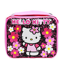 Sanrio Hello Kitty Flower Lunch Bag Insulated Lunchbox, Kids Girls Pink, New