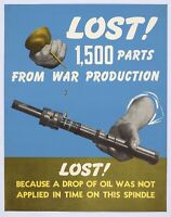 LOST! 1500 PARTS World War 2 Giclee Fine Art Poster Reproduction 19x24