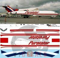 V1 Decals Boeing 727-200 Purolator for 1/144 Airfix Model Airplane Kit V1D0397