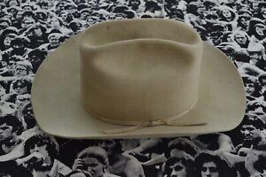 Vintage Stetson 3xxx beaver cowboy hat, distressed, 7 1/4, tan, fedora