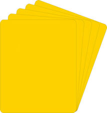 """(400) 07NS85YE30 7"""" Yellow Record Divider Bin Cards Heavy Duty 45RPM 30 Mil NEW"""