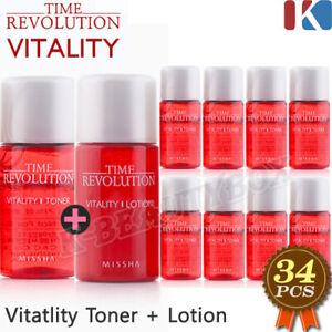 MISSHA Time Revolution Vitality Miniature Toner 17pcs+Lotion 17pcs Made in korea