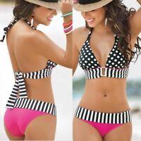 Women Bikini Bandage Swimwear Bandeau Push-Up Padded Bra Swimsuit Beachwear