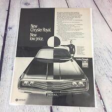 Vintage 1969 Chrysler Royal Genuine Magazine Advertisement Print Ad / Car Auto