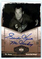 GORDIE HOWE 2004-05 Upper Deck Legendary Signatures Mr. Hockey Auto Autograph SP