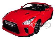 2017 NISSAN GT-R R35 RED 1/24 DIECAST MODEL CAR BY BBURAGO 21082
