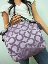 COACH MINT Purple Signature Op Art Brooke Sateen Hobo #14147