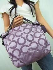 COACH MINT Purple Signature Op Art Brooke Sateen Hobo #14147