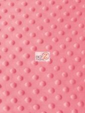 """DIMPLE DOT MINKY FABRIC - Strawberry - 60"""" WIDE SEW-SOFT BABY FABRIC RAISED"""