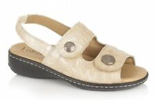 Lotus BURR Beige Croco Leather Sandals UK 7 EU 40 JS52 29