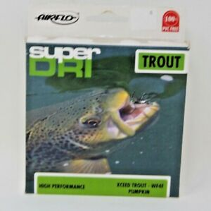 Airflo SUPER DRI XCEED TROUT Fly Line High Performance WF4F Pumpkin Color New